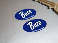 """Buco Helmets Protection Thru Research Oval Stickers 1"""" Pair"""