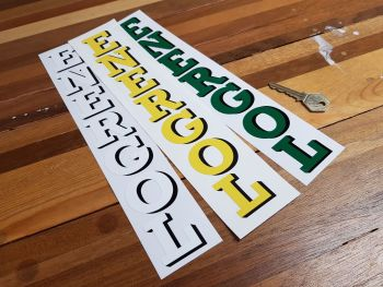 "BP Energol Vertical Cut Text Petrol Pump Sticker 12"""