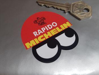 "Michelin Bibendum Helmet & Eyes Rapido Stickers - 2"" or 4"" Pair"