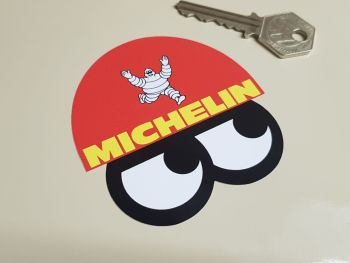 "Michelin Bibendum Helmet & Eyes Stickers - 3"" or 4"" Pair"