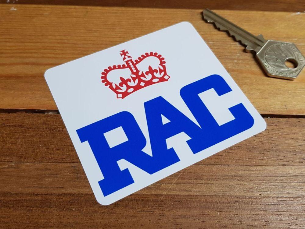 RAC Modern Style Sticker. 2