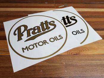 """Pratt's Motor Oils Circular Cut Vinyl Stickers - 10"""""""