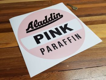 "Aladdin Pink Paraffin on Clear Globe Sticker - 10.25"""