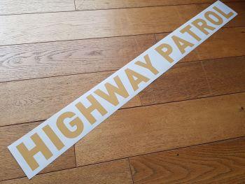 "California Highway Patrol Straight Text Car Boot Trunk Sticker - Gold Tone - 34"""