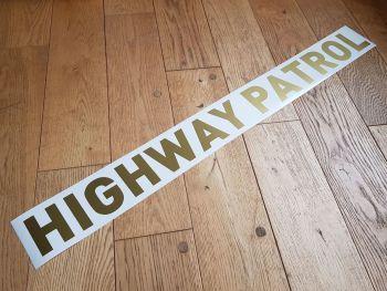"California Highway Patrol Straight Text Car Boot Trunk Sticker - Metallic Gold - 34"""