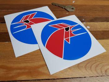 """Matra Circular Cockerel Logo Sticker - Close Cut - 4"""""""