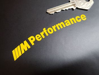 """BMW M Performance Curved Cut Text Stickers - Set of 4 - 4"""""""