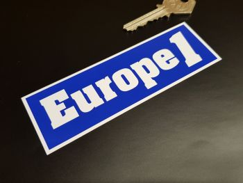"Europe 1 Oblong Car Stickers 5"" Pair"