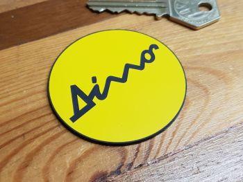 Ferrari Dino Yellow and Black Circular Self Adhesive Car Badge 55mm