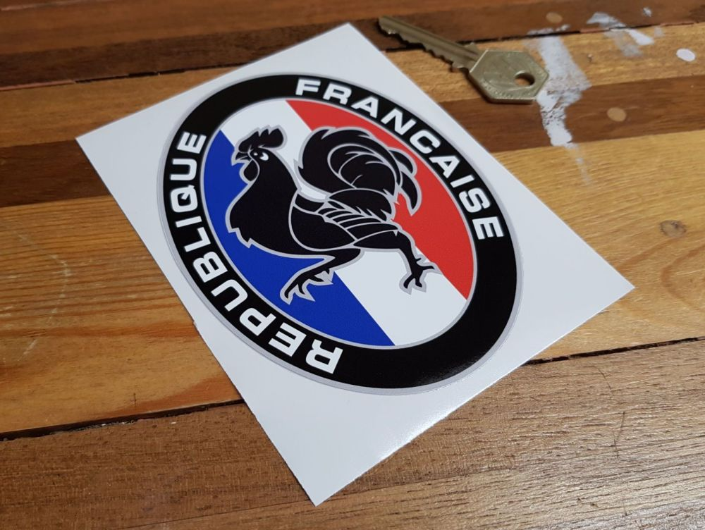 Republique Francaise France Rooster Oval Sticker 5