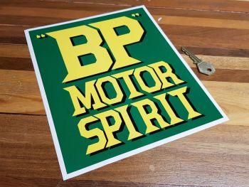 """BP Motor Spirit Oblong Style Sticker 9.5"""""""