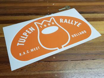 "Tulip Rally Tulpenrallye 1968 OrangeRally Plate Sticker 12.5"""