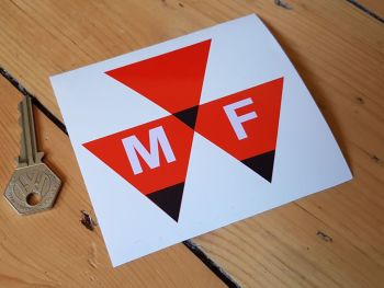 "Massey Ferguson Triangle Logo Stickers - 2"" or 4"" Pair"