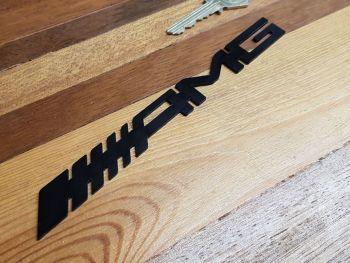 "Mercedes AMG Laser Cut Self Adhesive Car Badge - Black - 3.5"" or 6.5"""