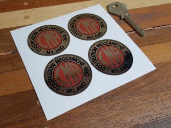 CMR Costruzioni Meccaniche Rho Milano Foil Stickers - Set of 4 - 45mm