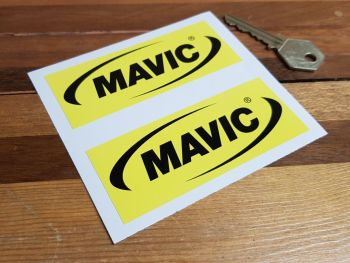 """Mavic Bicycle Oblong Stickers 4"""" Pair"""