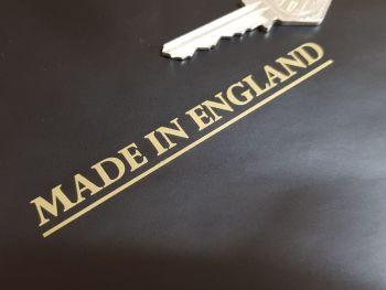 """Made in England Sticker - Cut Vinyl with Underline -  4"""""""