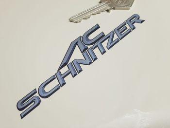 "AC Schnitzer 3D Text Style Cut Vinyl Stickers 5"" Pair"