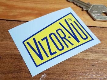 "Vizor-Vu Steve McQueen Visor Sticker 2.5"""