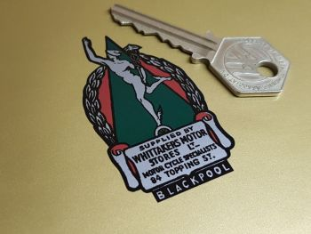 """Whittakers Motor Stores Blackpool Motorcycle Dealers Sticker 2.25"""""""
