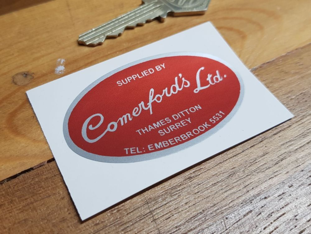 Comerford's Ltd Motorcycle Dealers Sticker. 2.5