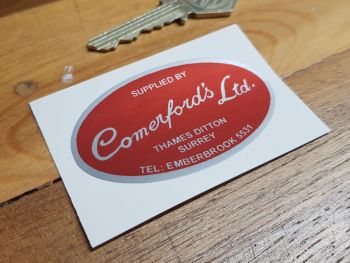 "Comerford's Ltd Motorcycle Dealers Sticker. 2.5"". Comerfords"