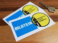 Bilstein German Text Gasdruck Stoss Dampfer Stickers. 4