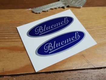 """Bluemel's Oval Stickers. 2"""" Pair."""
