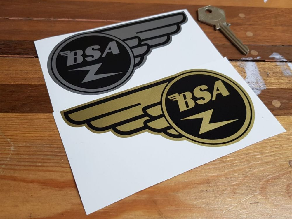 BSA Gold Flash Stickers Pair 5