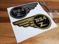 "BSA Gold Flash Stickers Pair 5"""