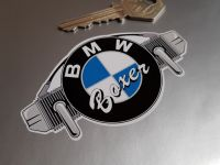 BMW Boxer Shaped Sticker - 90mm or 115mm