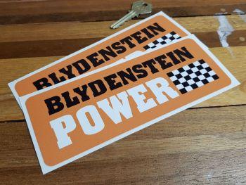"""Blydenstein Power Orange Oblong Stickers. 4.5"""" or 7"""" Pair."""