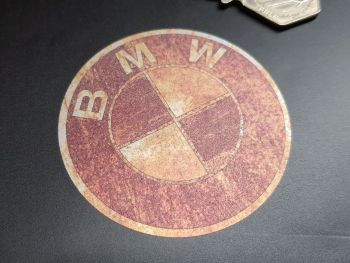 BMW Rusty Style Sticker 60mm