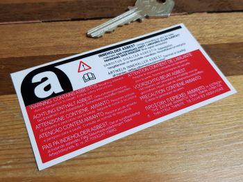 """Asbestos Warning German Text Special Offer Sticker. 4""""."""