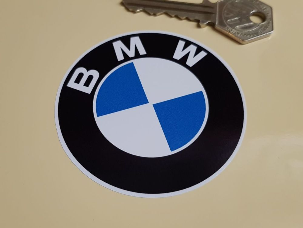 BMW Old Style Plain Roundel Stickers. Various Sizes.