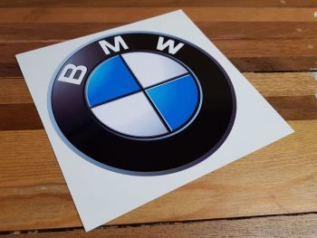 "BMW Shaded Roundel Sticker. 9"" or 12""."