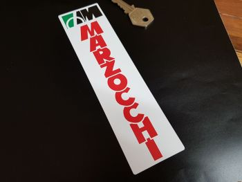 """Marzocchi Red Text Fork Slider Stickers - 6.75"""" Pair"""