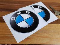 BMW Shaded Roundel Stickers. Various Sizes. Pair.