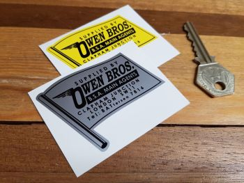 "Owen Bros BSA Main Agents London Dealers Sticker. 2.5""."