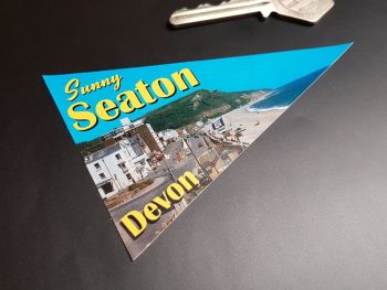 "Sunny Seaton Travel Pennant Sticker 4"""