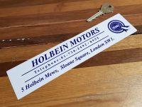 "BMC, Holbein Motors, Sloane Square, Dealers Sticker 8.5"""