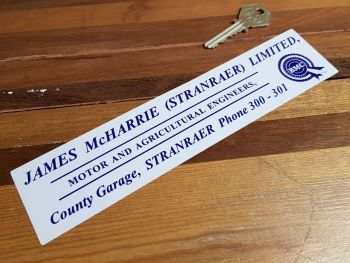 BMC, James McHarrie, Stranraer, Dealers Sticker 8.5""