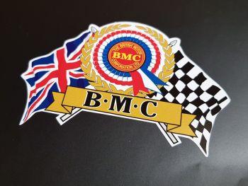 "BMC Large Flag & Scroll Sticker 11"""