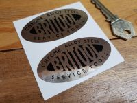 Britool Service Tools Oval Stickers - Mirrored Foil - 70mm Pair