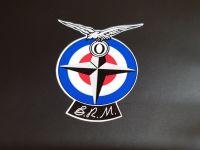 B.R.M BRM British Racing Motors Shaped Stickers - 2.5