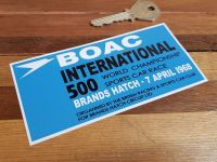 "BOAC International 500 Race Brands Hatch 1968 Sticker 5"""