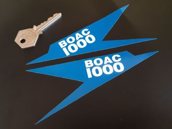"BOAC 1000km Race Brands Hatch Speedbird Stickers - 1969, 1970, or Plain - 6"" Pair"