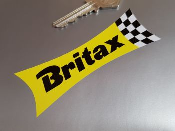 """Britax Waisted Yellow & Check Stickers - 4"""", 5.5"""", 8"""", 10"""" or 12"""" Pair"""