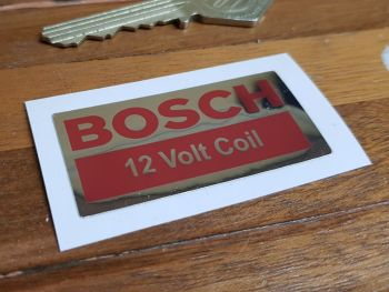 Bosch 12 Volt Coil Metallic Foil Sticker 2""