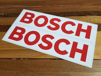 "Bosch Red & White Oblong Stickers 16"" Pair"